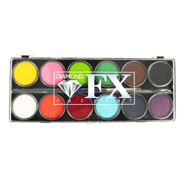 Diamond FX Palette de Maquillage 12 couleurs essentielles (12 x 10 g)-0