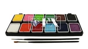 Palette de maquillage Diamond FX 12 couleurs essentielles (12 x 6 g)-0